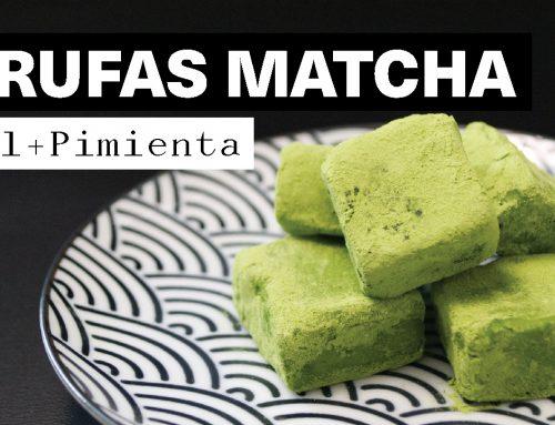 Receta Trufas de Chocolate Blanco y Matcha