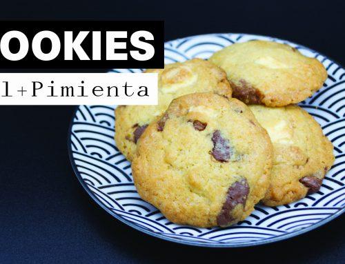 Receta Cookies con 3 Chocolates al estilo americano