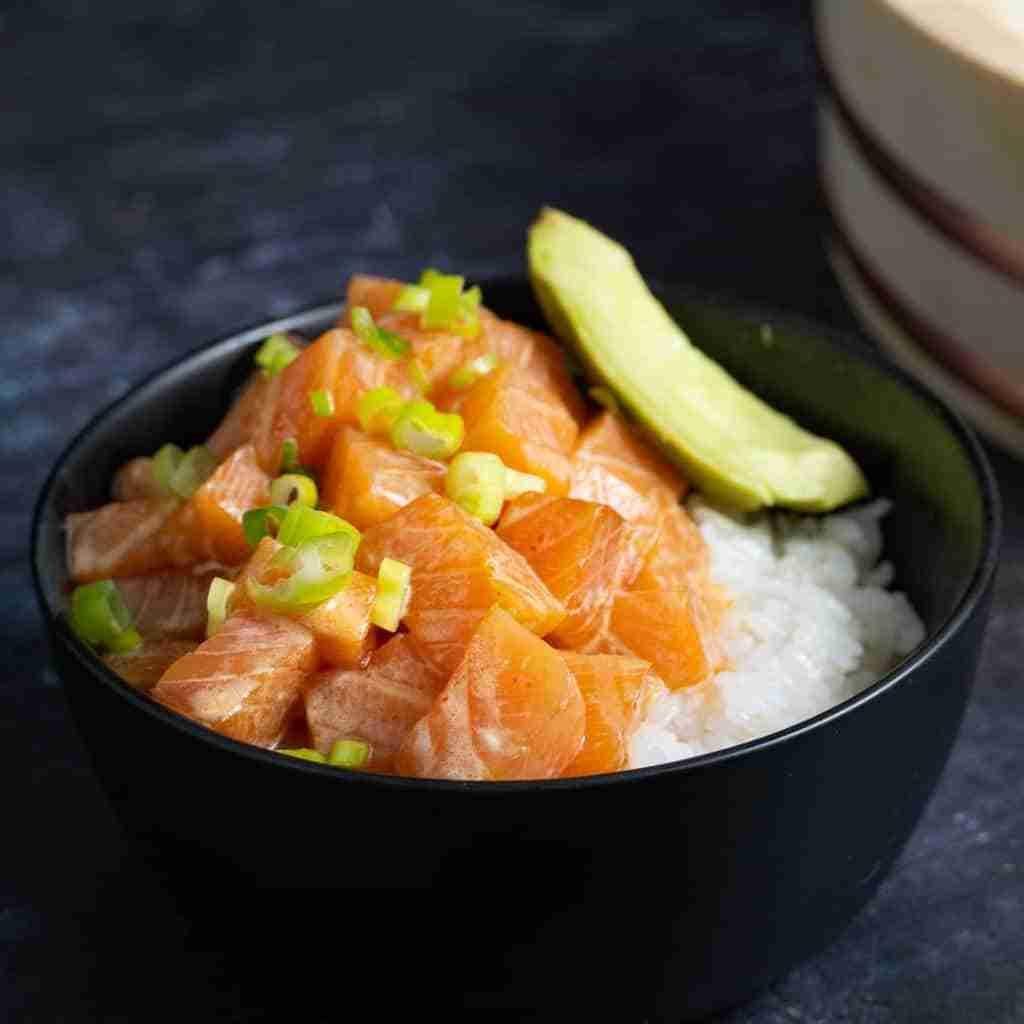 receta poke salmon