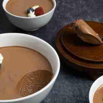 Receta Mousse de Chocolate Negro